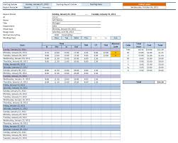 mileage log excel templates employee time sheet manager