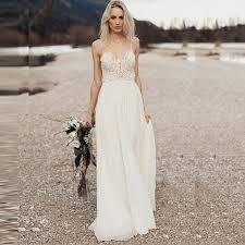 <b>LORIE Beach</b> Wedding Dress with Spaghetti Straps 2018 Vestido de ...