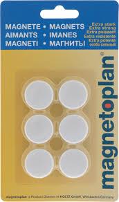 <b>Магниты</b> Magnetoplan, цвет: <b>белый</b>, 6 шт