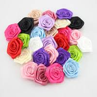 wholesale 300pcs lot satin flower for clothes sewing supplies diy craft decoration