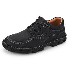 <b>IZZUMI</b> Men Handmade Outdoor <b>Fashion Casual</b> Shoes - Black EU 42