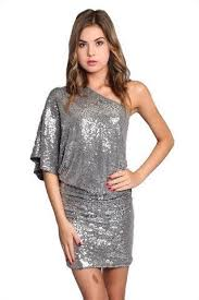 Steal the Show One Shoulder <b>Sequin</b> Dress - Silver in 2019 ...
