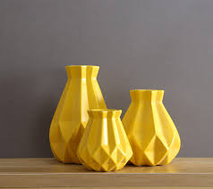 Modern minimalist yellow ceramic <b>nordic creative living room</b> flower ...