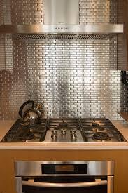 kitchen backsplash stainless steel tiles: stainless steel tile backsplash kitchen contemporary with diagonal wall stripes paited image by heather merenda