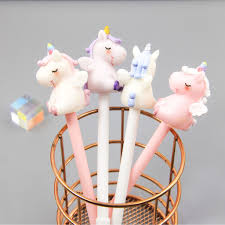 <b>1 Piece</b> Unicorn 0.5mm Gel Pen School Office Supplies Cute ...