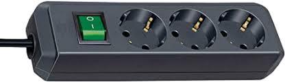 <b>Brennenstuhl Eco</b>-<b>Line</b> extension socket with switch <b>3</b>-way 3m ...