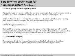 nursing cna cover letter sample