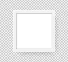 Realistic <b>Square Picture Frame</b> Isolated On <b>Transparent</b> ...