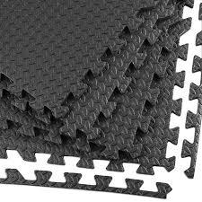Clevr <b>EVA</b> Foam Interlocking Floor Mat, Steel Pattern, <b>24 pcs</b>, 96 sq. ft.