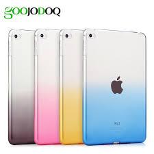 <b>Case For iPad</b> Air 1 Air 2 Silicone Soft back <b>Cover</b> Transparent ...