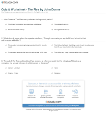 quiz worksheet the flea by john donne study com print the flea summary analysis worksheet