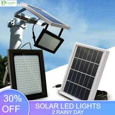 BEYLSION 150 LEDs 15W Solar Powered <b>LED</b> Flood Light <b>Radar</b> ...