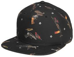 <b>Бейсболка CROOKS & CASTLES</b> Bird Trap Snapback Black O/S ...
