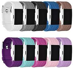GHIJKL Sports Band Compatible Fitbit Charge 2, Soft <b>Silicone</b>