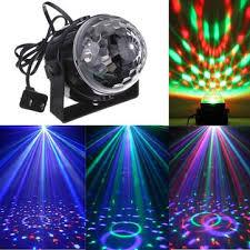 mini <b>rgb led</b> party disco club dj light crystal magic ball <b>effect stage</b> ...