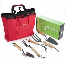 <b>6</b>-<b>piece Garden</b> Tool Set With Carry Bag - Ocaliving