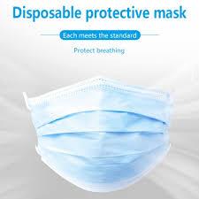 <b>3</b> Ply Disposable Face Masks Pack of <b>100 Pcs</b> - WorldSIM