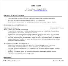 sample security resume      download free documents in pdf  wordsample security professional resume