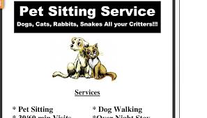 5 Pet Sitting Flyer Templates | AF Templates DocStoc