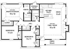 Two Bedroom Two Bath House Plans   Simple Two Bedroom Two Bath    Bedroom Bath House Plan less than square feet House Plans for Two Bedroom Two