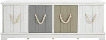 Premier Housewares <b>Storage Bench MDF</b> Hallway Storage Unit ...