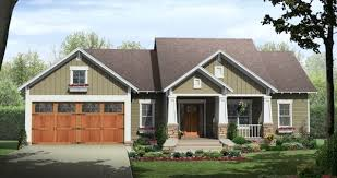 Craftsman and Bungalow House PlansCraftsman House Plan HPG  C The Craftsman     Bungalow     style
