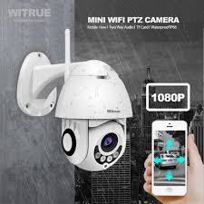 PTZ IP Camera <b>WiFi</b> 1080P <b>Wireless Outdoor</b> Dome <b>IR</b> Night Vision ...