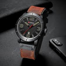 <b>CURREN</b> 8327 Men's Watch Japanese Movement <b>Round</b> Leather ...