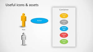use case powerpoint diagram   slidemodel    software ppt template user case diagram elements