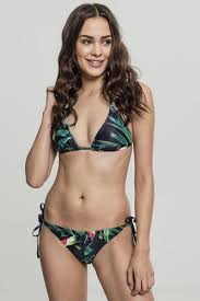 <b>Купальник URBAN CLASSICS</b> Ladies Tropical Bikini (Leaf, L ...