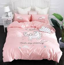 <b>Cute Unicorn</b> Bedding Sets Duvet Cover Embroidery Kids Bedding ...