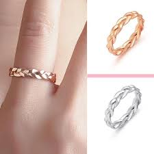 <b>Fashion Creative Closed Chain</b> Ring Women Men Winding Twist ...