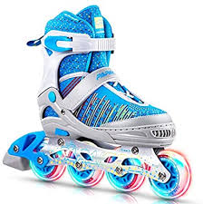 Adjustable Inline Skates Roller <b>Blades Unisex</b> Adult /Kid Size ...