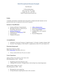 resume for a receptionist hotel receptionist resume resume for a receptionist 2823