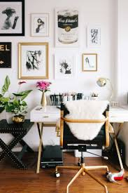 chic home office black desk chair with gold accents white laquer desk with gold chic office ideas 1000