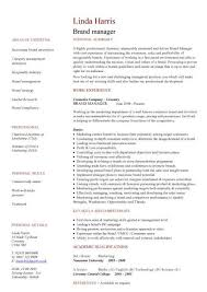 brand manager cv sample  developing plans and executing projects    brand manager cv sample  developing plans and executing projects and initiatives  resume  jobs