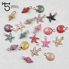 <b>6pcs</b> Colorful Shell <b>Enamel Charms</b> Pendant For Jewelry Making ...