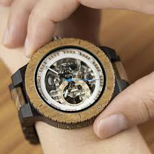 Mechanical Wood <b>Watches Men LIGE</b> Luxury Wooden <b>Watch</b> ...