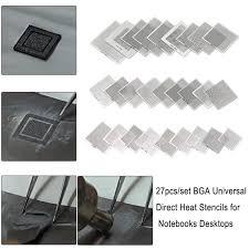 <b>27Pcs/set BGA</b> Universal Direct Heat Stencils for Notebooks ...