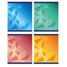 <b>Тетрадь общая</b> А5,48л,кл,скоб,блок-офсет-2 <b>Attache</b> Galaxy син/зел