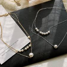 2019 <b>Trendy Double</b> Pearl <b>Necklace</b> Fashion Luxury Design Pearl ...