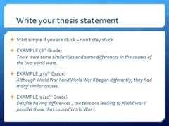 what is the thesis statement in an essay