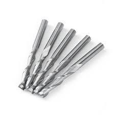 5pcs <b>1/8 inch</b> 2 flute carbide end mills <b>3.175mm</b> spiral router bits ...