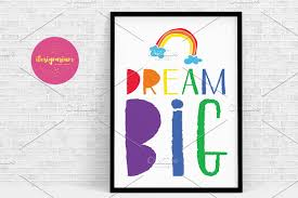 creative dream big wall stickers