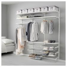 ikea open clothes and shoe storage system algot white wall mounted storage