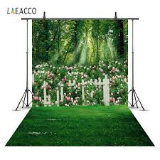 <b>Laeacco</b> Garden Spring Wedding Gate <b>Princess</b> Girl Swing Scene ...