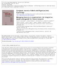 academic paper managing diversity in organizations an academic paper managing diversity in organizations an integrative model and agenda for future research
