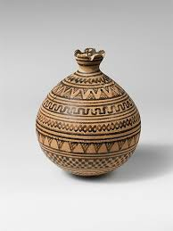 <b>Terracotta</b> vase in the form of a pomegranate <b>Period</b>: Geometric ...