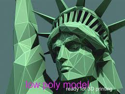 <b>Statue of Liberty</b> - low poly. Ready for 3D <b>printing</b>. There is files 3ds ...