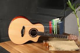 "<b>Full Solid Guitar</b>,<b>41</b>"" Cutaway Jumbo <b>guitar</b> with <b>Solid</b> Spruce Top ..."